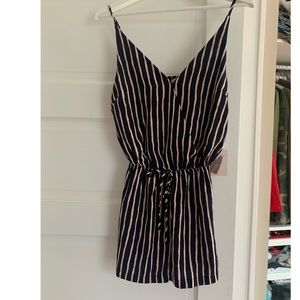 NWT forever 21 striped romper size small